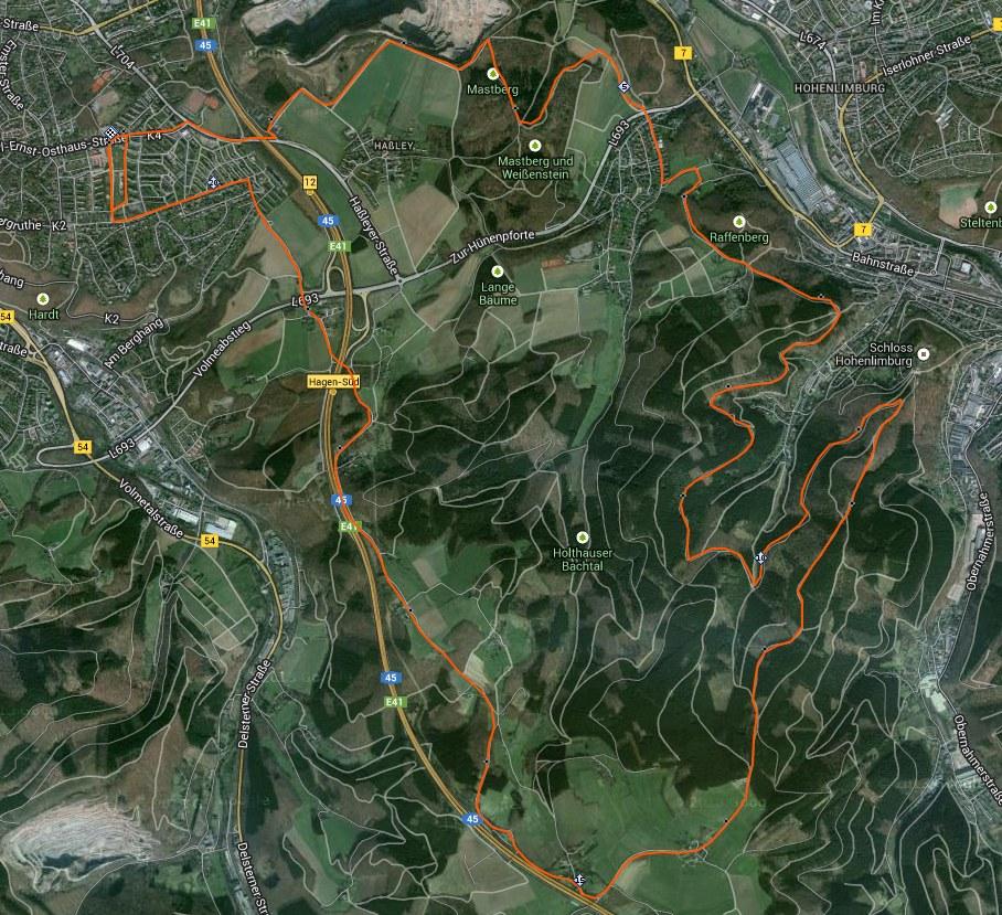 Strecke Halbmarathon